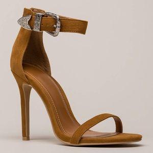 Brown Buckle Heels